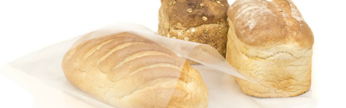 Packaging film ideal for baked goods such as bread, providing long lasting freshness